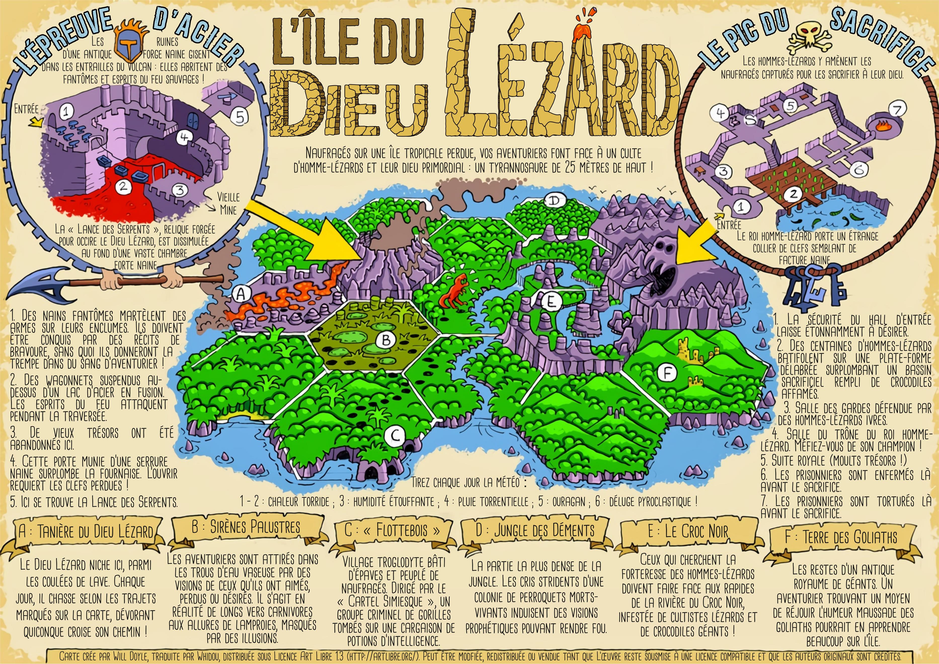 L'Île du Dieu Lézard, version composée